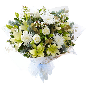 Icy White Christmas Bouquet