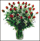 24 Red Roses Arranged