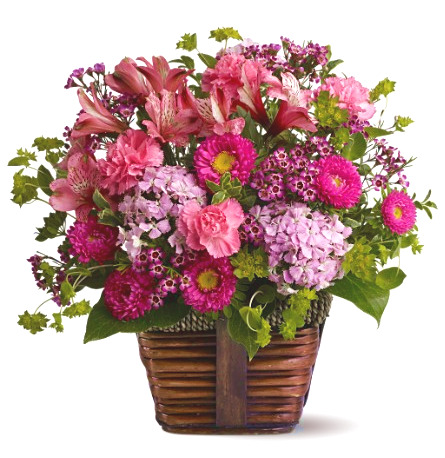 Pink Blossoms Basket